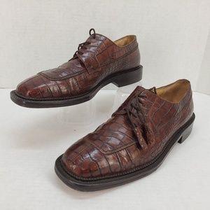 Florsheim Barletta Leather Reptile Textured Shoes